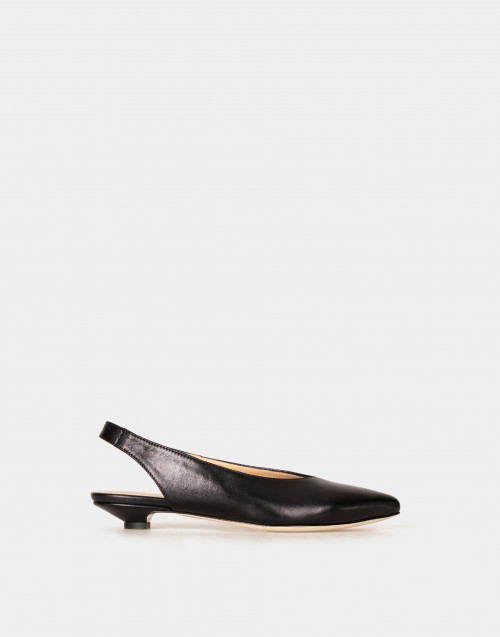 Leather silng back pumps