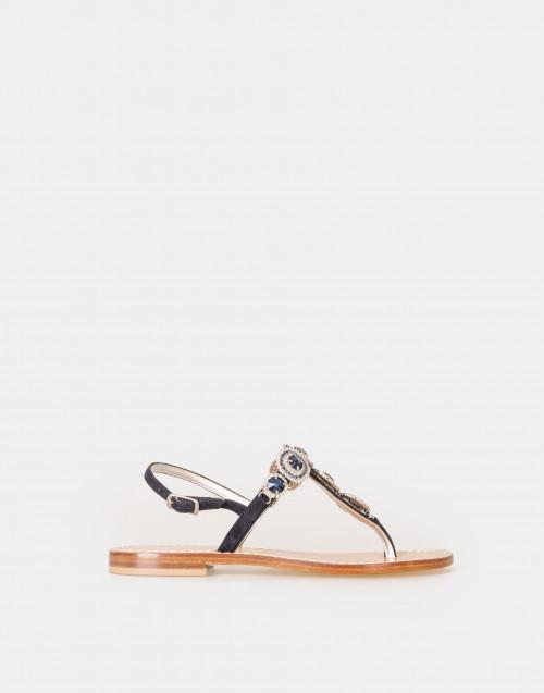 Sandalo gioiello infradito NERO