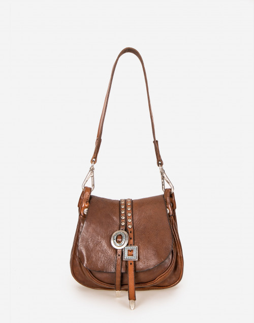 Camel color leather mini bag