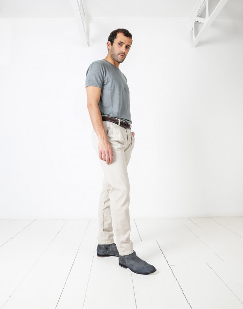 Cotton trousers with pences