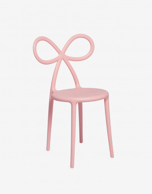 Chair with pink bow