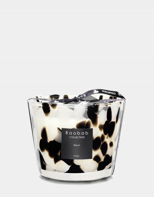 Pearls Candle Black max 10