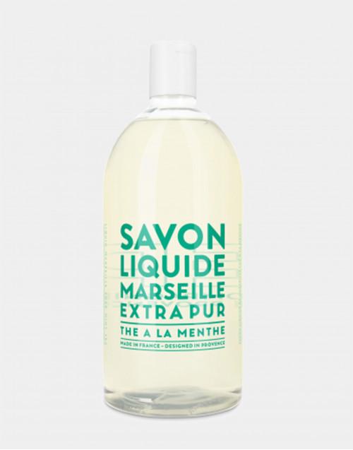 Sapone liquido di Marsiglia ricarica 1L Thè à la Menthe