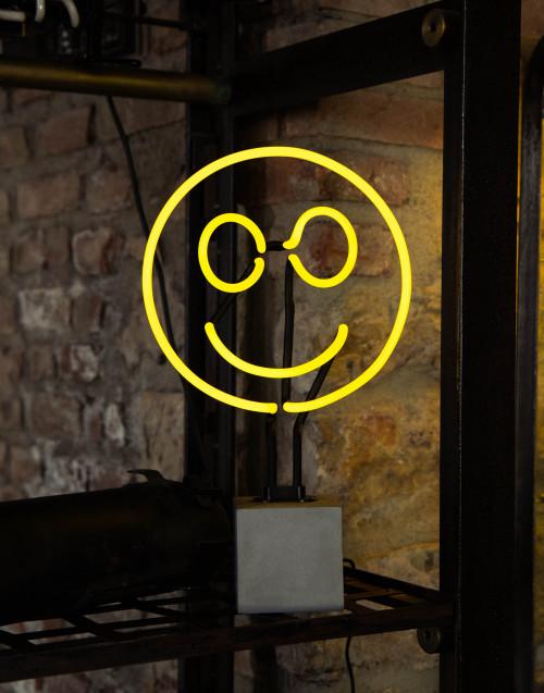 Smile neon lamp