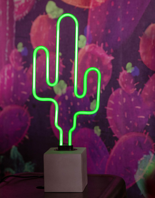 Lampada neon Cactus