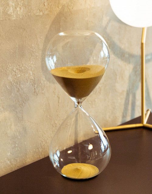 Large hourglass with gold sand