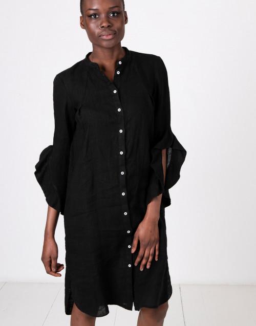 Abito chemisier rouches nero