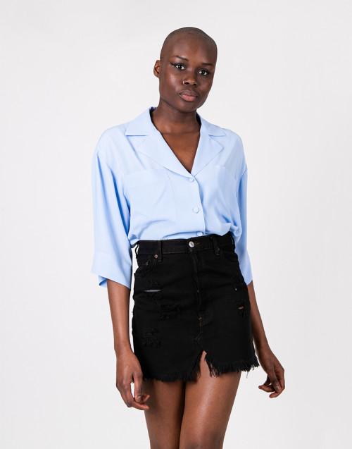 Vintage jeans miniskirt