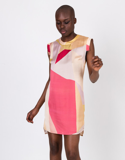 Multicolor viscose dress