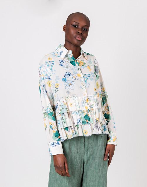 Camicia cotone fiori