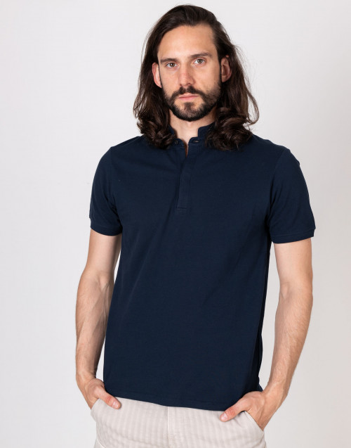 Cotton mandarin collar t-shirt