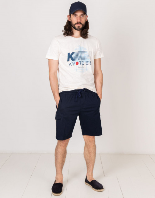 Cotton short with lateral band