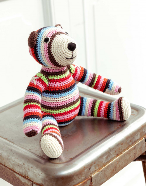 Multicolored Teddy bear in organic cotton
