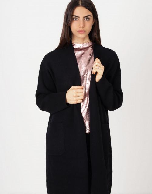 Cappotto nero lana