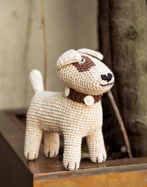 Terrier small sand in organic cotton