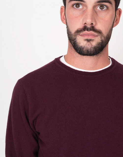 Crewneck bordeaux sweater