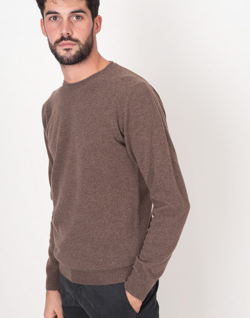 Crewneck brown sweater