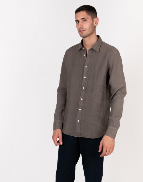 Camicia lino fango