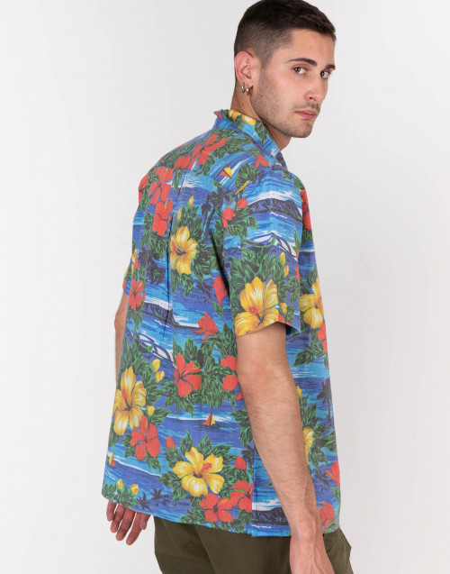 Camicia Hawaiiana maniche corte colorata