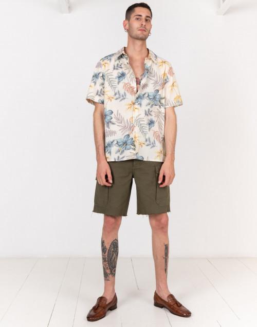 Camicia Hawaiiana maniche corte gialla