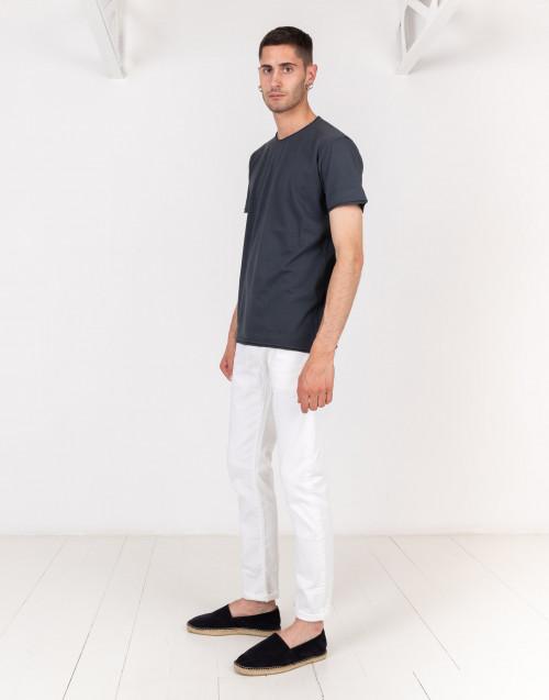 T-shirt basic grigio antracite taglio vivo