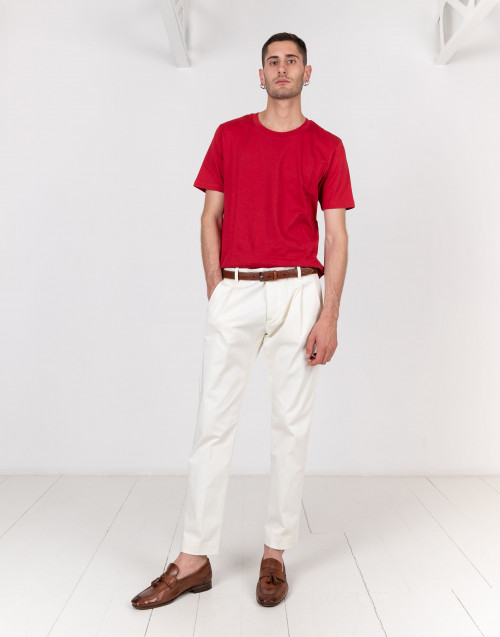 Pantalone chino bianco latte