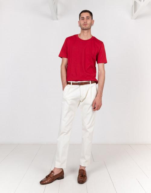 Pantalone chino bianco latte