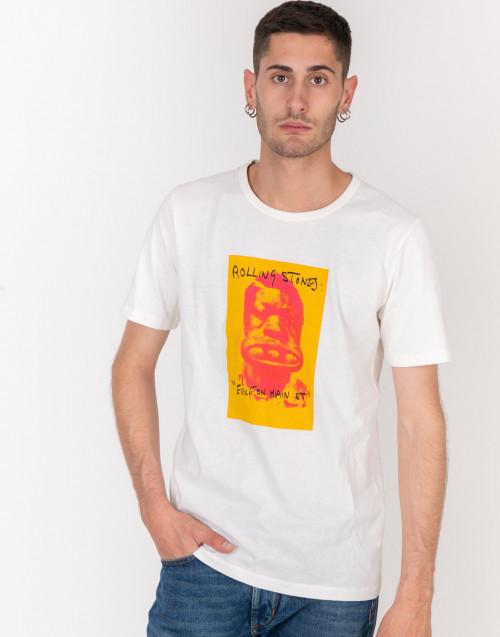 T-shirt bianco latte Rolling Stones