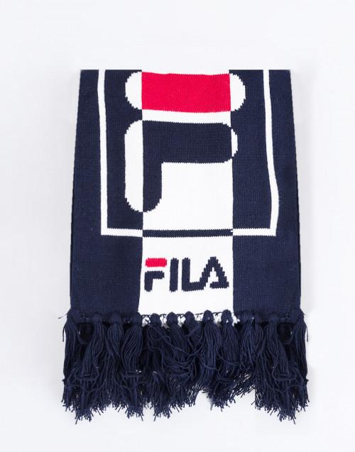 Logo blue scarf