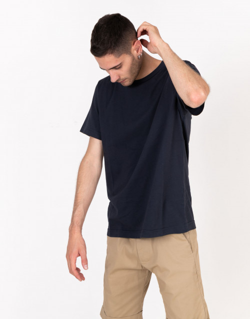 T-shirt basic blu notte