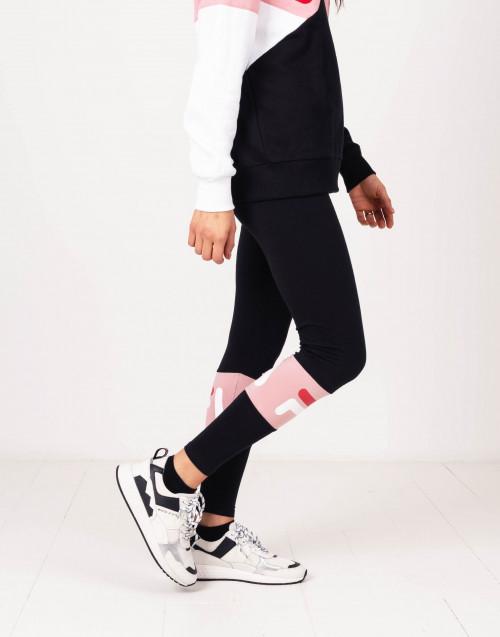 Black and pink logo leggins