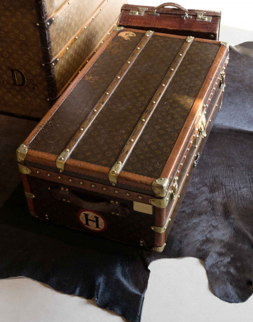 vintage traveling trunk lv