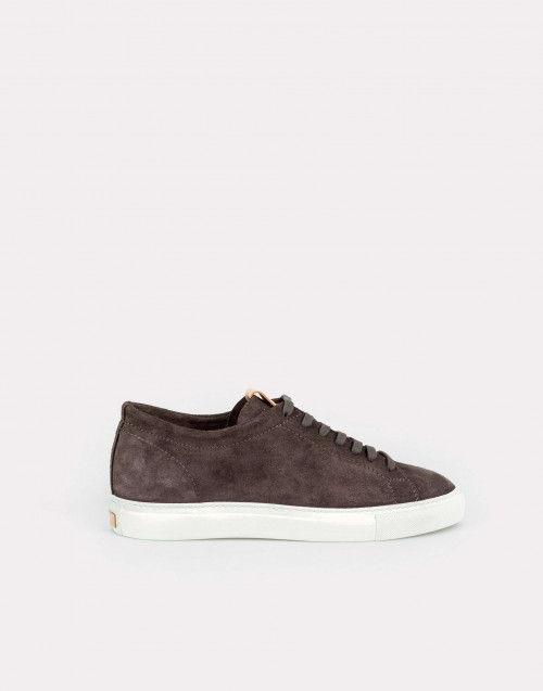 Walnut suede sneakers
