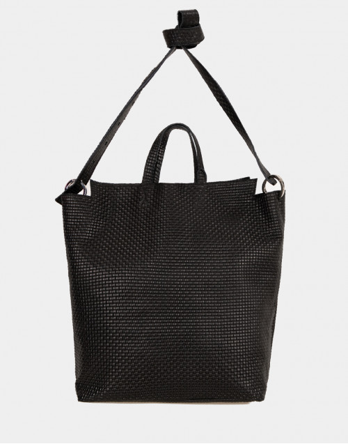 Nino TRK903 shopping bag in black braided leather