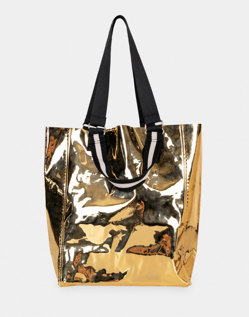 Gold-tone pvc Purna bag
