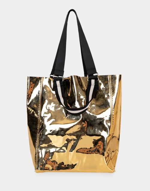 Gold-tone pvc Purna bag