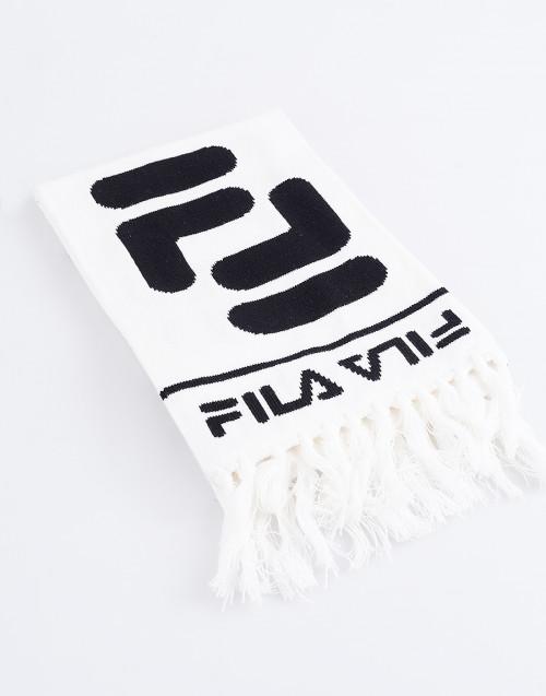 Logo white scarf