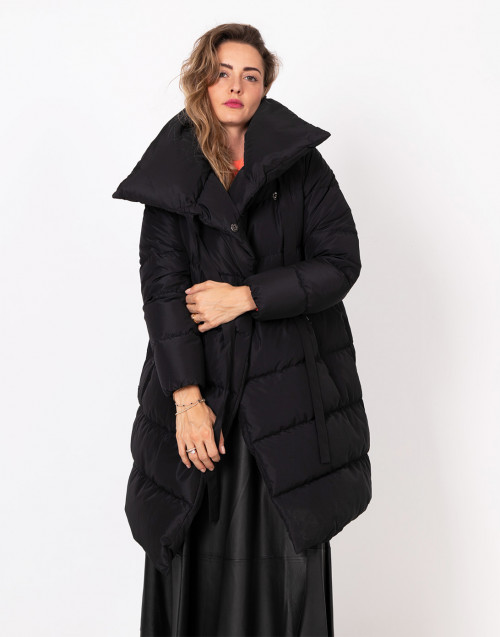 Black Big Puffa quilted jacket