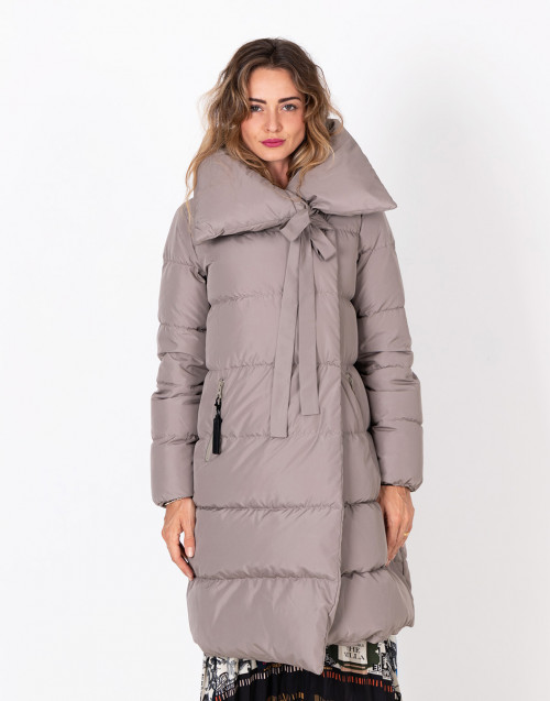 Taupe Big Puffa quilted jacket