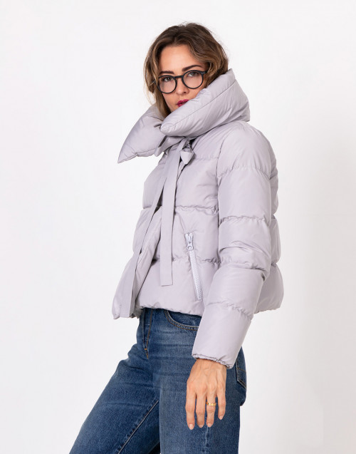 Light Grey Puffa quilted jacket