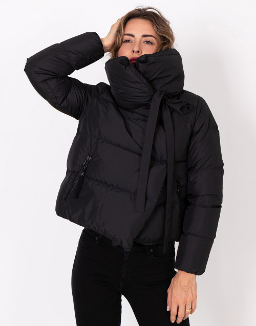 Black Puffa quilted jacket