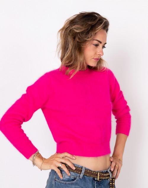 Pink angora sweater