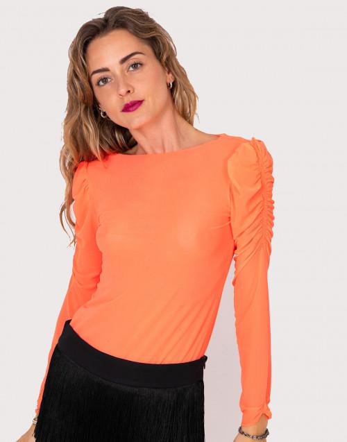 Maglia in mesh arancio fluo