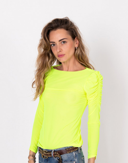 Fluo yellow mesh shirt