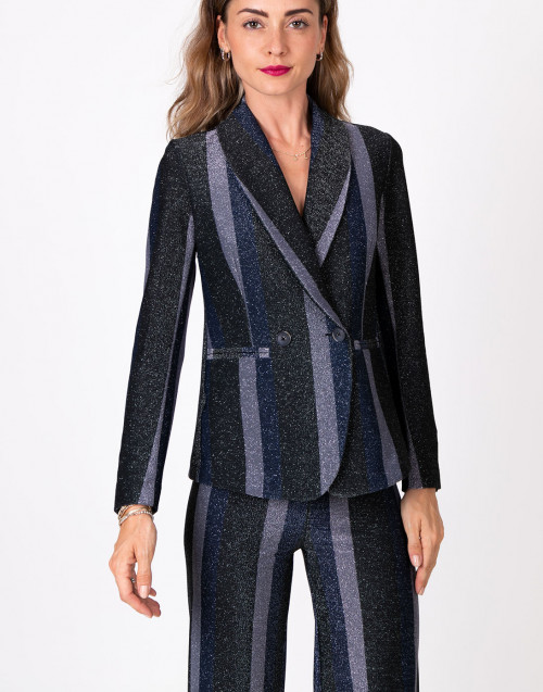 Striped lurex blazer