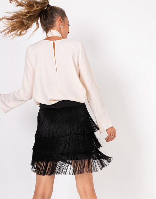 Fringed Charleston miniskirt