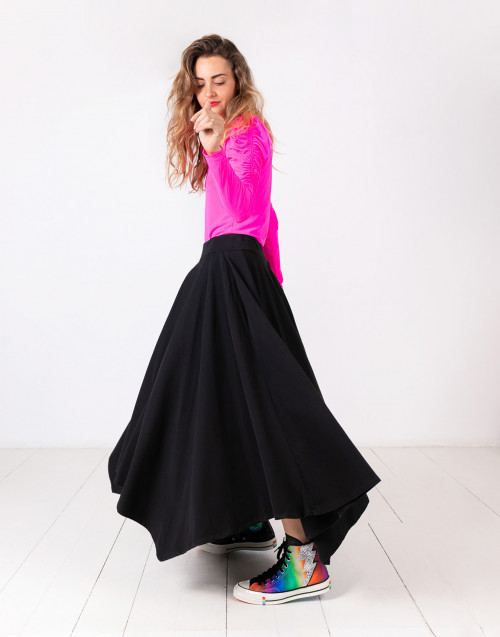 Pleated jersey Rebel skirt