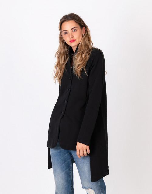 Cappotto Calm nero in felpa