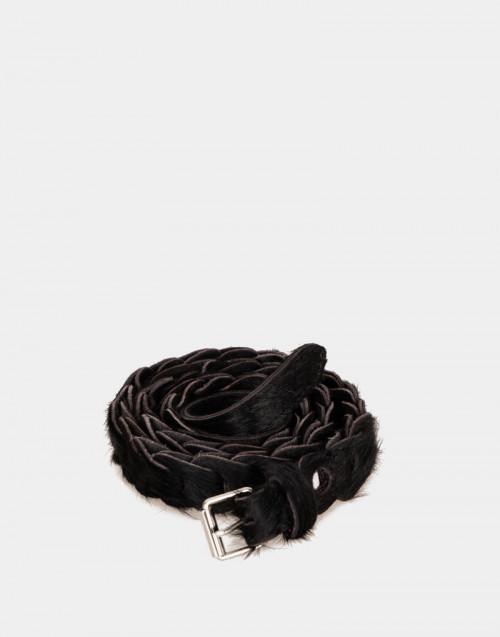 Cintura Dalia in cavallino nero
