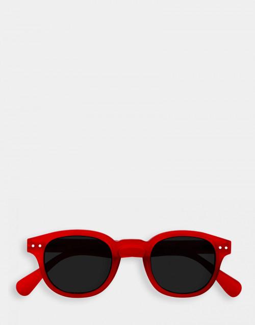 Occhiali da sole e da lettura rosso montatura spessa